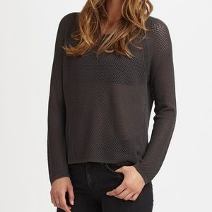Women's Gray Mesh Raglan Sweater from Intermix